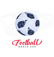 soccer ball on stadium background vector image