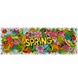 spring hand drawn cartoon doodles vector image