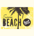 summer beach festival typographic grunge poster vector image vector image