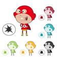 super kid sticker vector image vector image