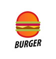 tasty burger icon on white background vector image vector image