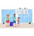 time for family trip vector image