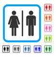 toilet framed icon vector image vector image
