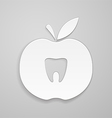 Tooth in apple vector image