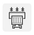 transformer icon black vector image