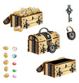 treasure chest with forged decorated vector image vector image