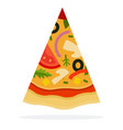 triangular slice mexican pizza flat icon vector image vector image