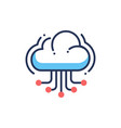 web site cloud hosting - modern line icon vector image vector image