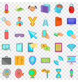 web site icons set cartoon style vector image vector image