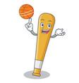 with basketball baseball bat character cartoon vector image
