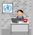 world health organization spokesman vector image vector image
