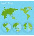 World map 8 bit air and compass