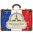 paris suitcase vector image
