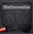 black mathematics background vector image