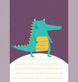 crocodile card vector image