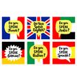 language school banners set vector image