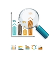 Magnifier and Diagram Business vector image