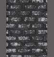 dark old black brick wall eps 10 vector image