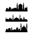 Islamic architecture vector image