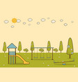 playground in a city park vector image