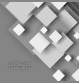 abstract 3d geometric shapes with shadow effect vector image