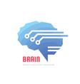 abstract human digital brain - business vector image vector image