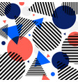 abstract modern fashion circles and triangles vector image