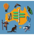 australia travel flat color vector image vector image