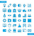 banking and financial blue icons set style vector image vector image