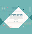 banner web template geometric design with square vector image vector image