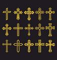 big set of cross vector image vector image