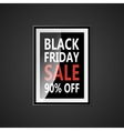 Black Friday sale inscription design template vector image vector image