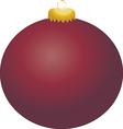 Burgundy Ball Ornament vector image vector image
