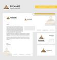 burner business letterhead envelope and visiting vector image vector image