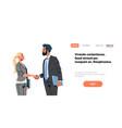 business couple handshake agreement concept vector image vector image