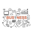 business financial startup hand drawn doodle vector image vector image