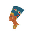 bust nefertiti symbol ancient egyptian vector image