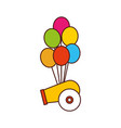 carnival canyon with party balloons vector image