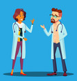character cardiologist doctor man and woman vector image vector image