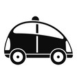 city self driving car icon simple style vector image vector image