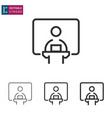 conference line icon on white background editable vector image vector image