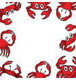 crab funny frame empty template vector image