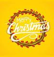 creative merry christmas card design vector image vector image