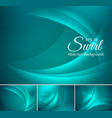 curvy abstract background aquamarine vector image vector image
