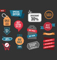 discount banners offer price coupons and labels vector image