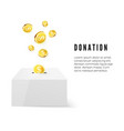 donation donate money concept golden coin fund in vector image