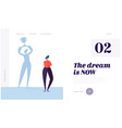 dream landing page character imagine ideal life vector image