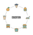 education design concept education design concept vector image