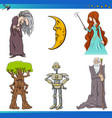 fairy tale characters set vector image vector image