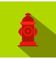 Fire hydrant flat icon vector image vector image